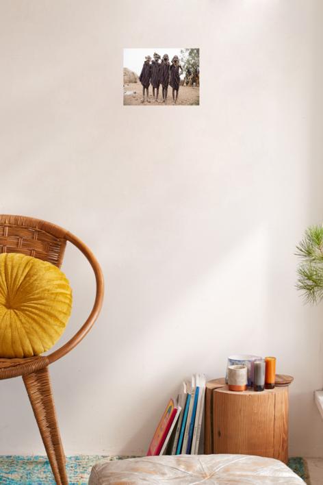Niñas mursi | Fotografía de Yael Portabales | Compra arte en Flecha.es
