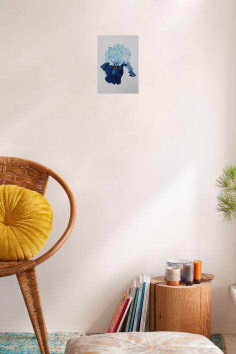 Lirio Azul Larteral | Pintura de Miguel Ortega Mesa | Compra arte en Flecha.es