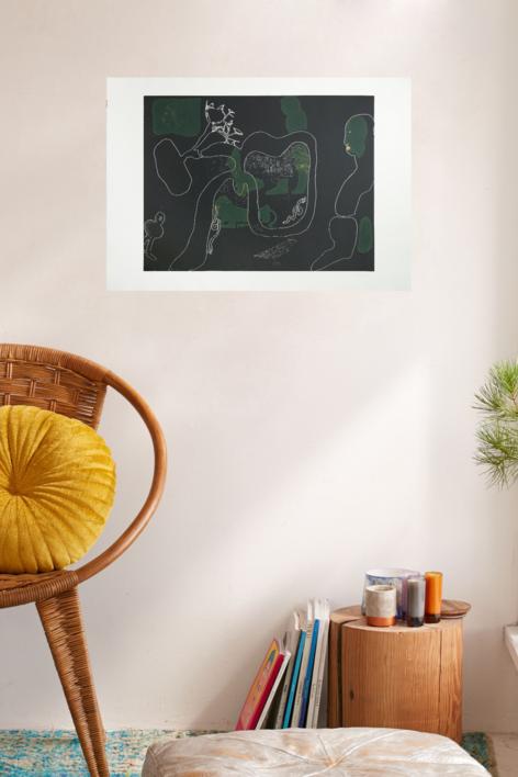 Olga en el campo | Obra gráfica de Jorge Castillo | Compra arte en Flecha.es