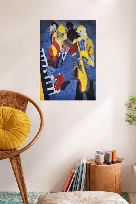 Jazz cuarteto. | Obra gráfica de Jenifer Carey | Compra arte en Flecha.es