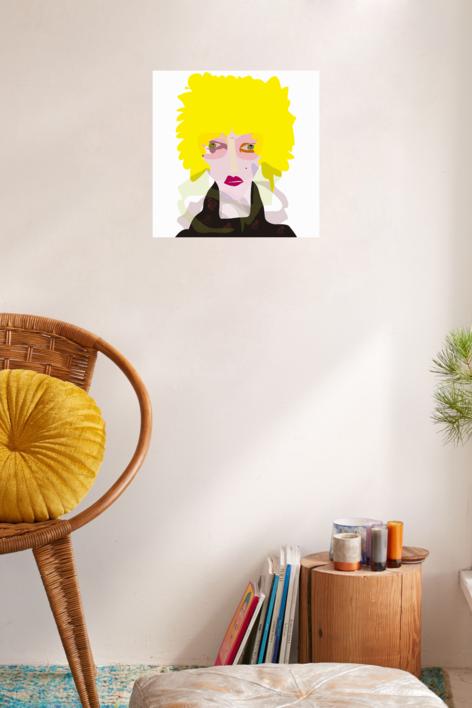 El chico rubio | Dibujo de Mariana sanz POPNTOPMAD | Compra arte en Flecha.es