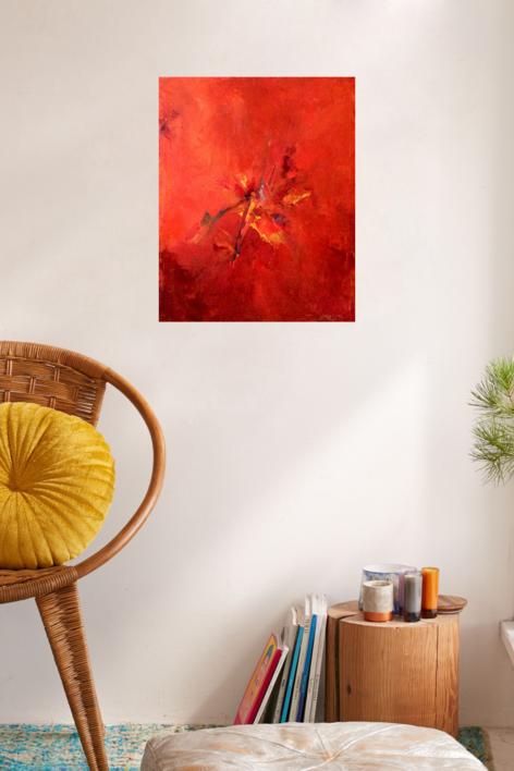 Summer fire   Pintura de Enrique Pazos   Compra arte en Flecha.es