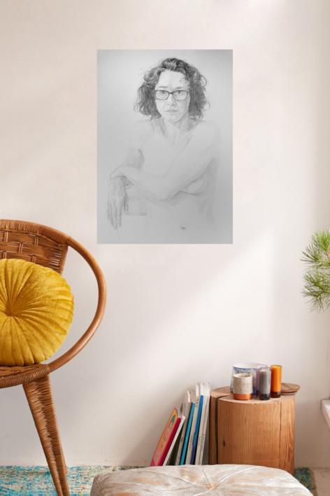 Karen II | Dibujo de Pablo Mercado | Compra arte en Flecha.es