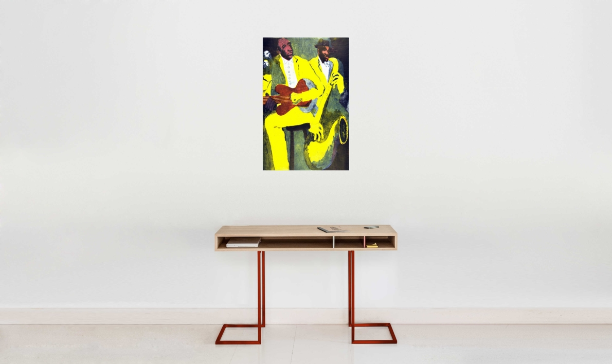 Jazz dueto IV | Obra gráfica de Jenifer Elisabeth Carey | Compra arte en Flecha.es