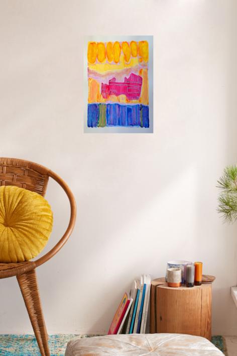 el barco   Obra gráfica de Mila Domenech   Compra arte en Flecha.es
