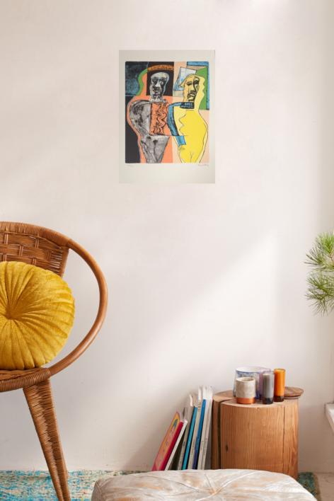 Personajes Enlazados (2) | Obra gráfica de Manuel Oyonarte | Compra arte en Flecha.es