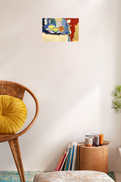 BODEGÓN CON ROSA | Pintura de Iraide Garitaonandia | Compra arte en Flecha.es