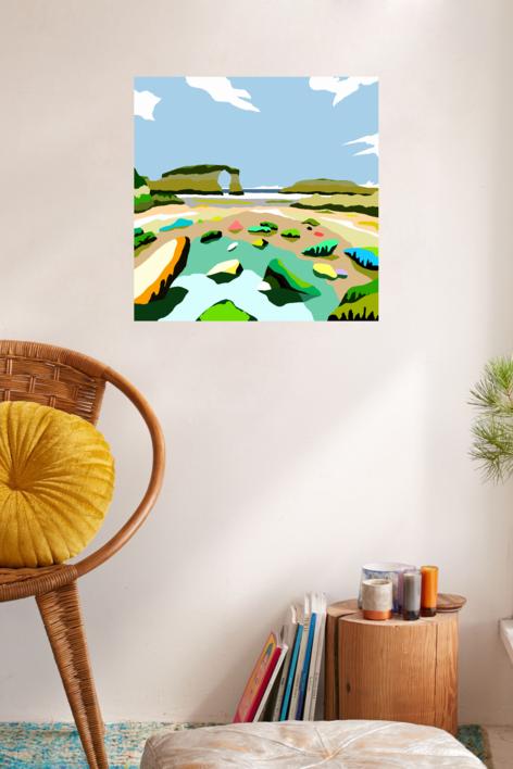Playa de Las Catedrales | Digital de ALEJOS | Compra arte en Flecha.es