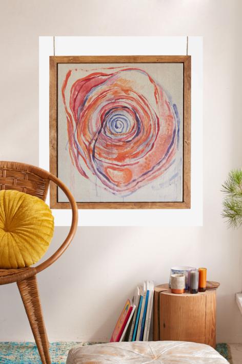 Vortex de Transformación. Dejando que todo fluya a través de mi. Y de ti. | Pintura de Carmen Ceniga Prado | Compra arte en Flecha.es