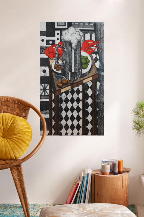 Caña | Obra gráfica de Fernando Bellver | Compra arte en Flecha.es