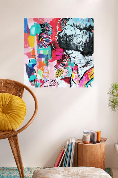Kokoro | Collage de Ana Soler Fernandez | Compra arte en Flecha.es