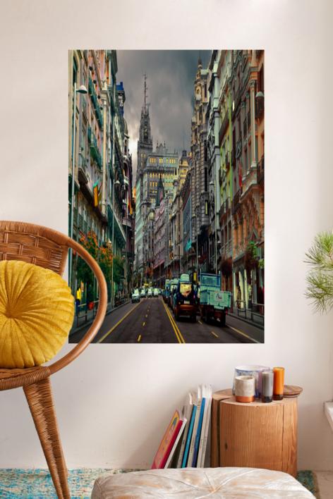 Gran Vía Horizontal | Fotografía de Leticia Felgueroso | Compra arte en Flecha.es