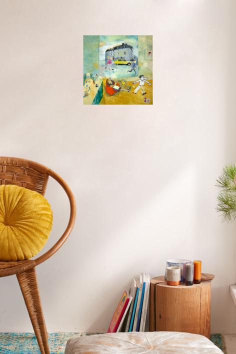 Paris Le Bourget | Collage de Eugenio Vega | Compra arte en Flecha.es