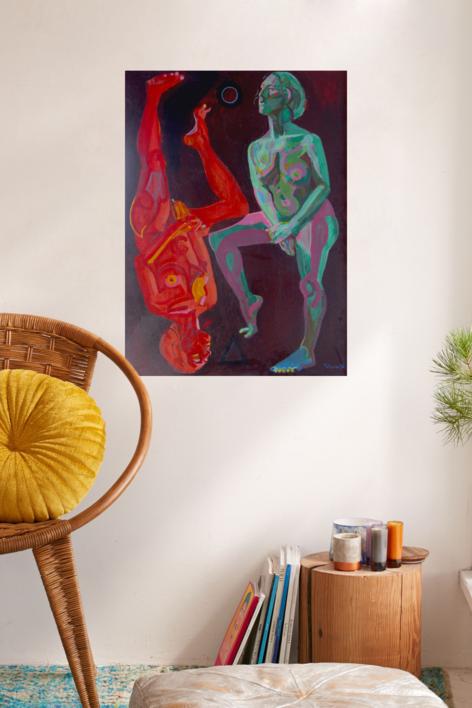 Agua y fuego | Pintura de Nader | Compra arte en Flecha.es