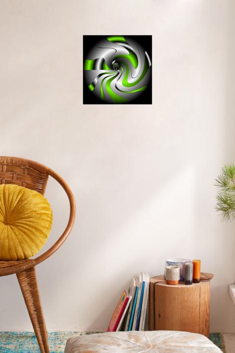 ONDAS  Y  VOLUTAS  Nº  8 | Digital de rocamseo | Compra arte en Flecha.es