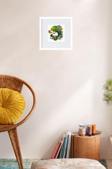 el dragon verde | Ilustración de richard martin | Compra arte en Flecha.es