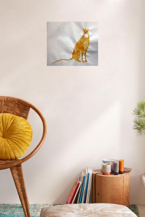 GUEPARDO OJOS ROJOS | Collage de SINO | Compra arte en Flecha.es