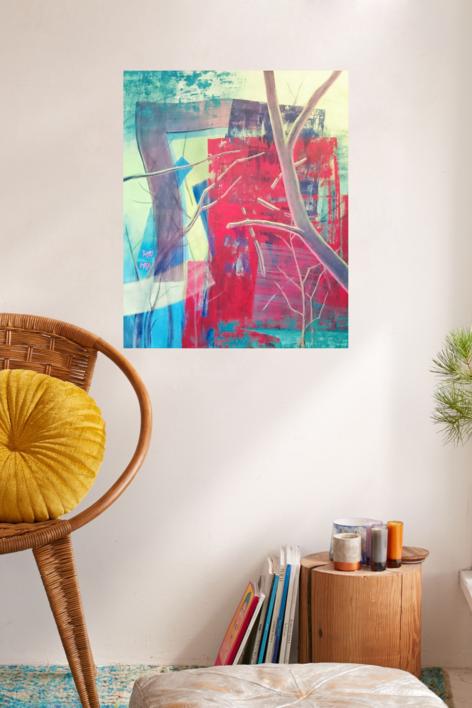 S/t Serie TEXTURAS DE COLOR REF. 133 | Pintura de Patxo  Cruceta | Compra arte en Flecha.es