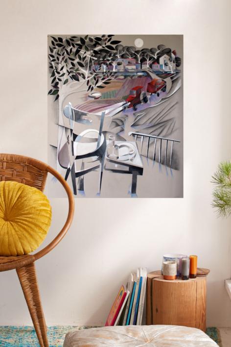 El tractor rojo | Pintura de Miguel Mansanet | Compra arte en Flecha.es