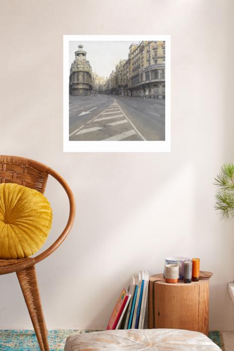 Gran Vía | Digital de Antonio López | Compra arte en Flecha.es