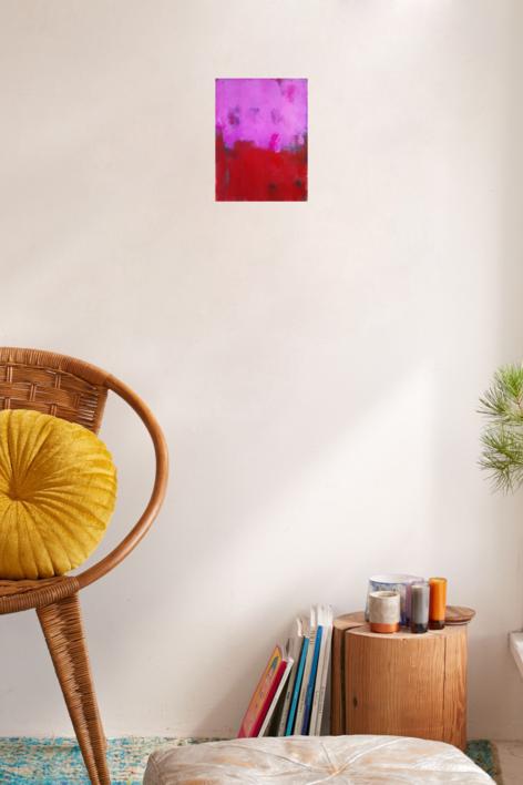 Red against pink | Pintura de Luis Medina | Compra arte en Flecha.es