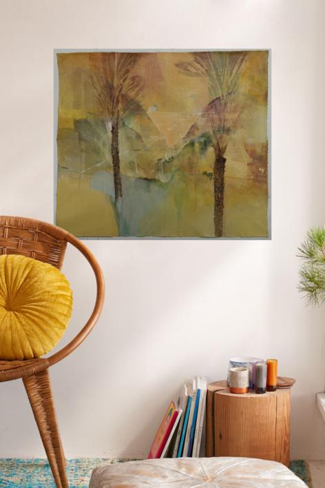 Bañado por el atardecer   Pintura de Luis Kerch   Compra arte en Flecha.es