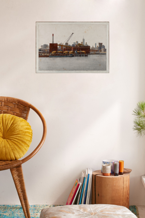 The Vinegar Hill And Lower Manhattan From Brooklyn Navy Yard 60x86 | Fotografía de Carlos Arriaga | Compra arte en Flecha.es