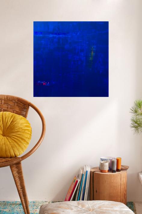 Ras47-Azul de mar | Collage de Jorge Font | Compra arte en Flecha.es