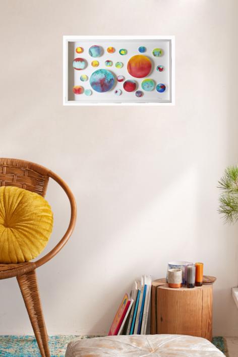 Galactik Galaxi | Pintura de Violeta Maya McGuire | Compra arte en Flecha.es