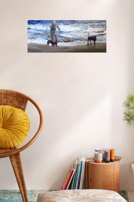 Paseo canino | Pintura de Carmen Montero | Compra arte en Flecha.es