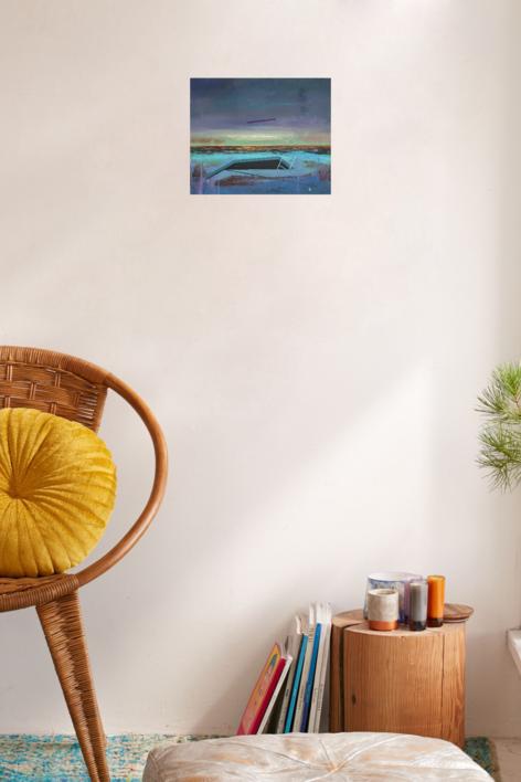 Refugio 13 | Pintura de Benito Salmerón | Compra arte en Flecha.es