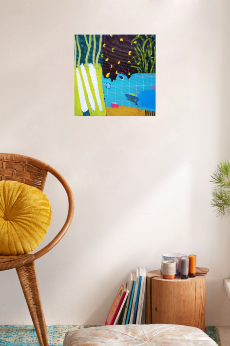 Acuario | Pintura de Ana Cano Brookbank | Compra arte en Flecha.es