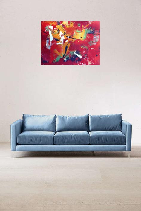 Vermell | Pintura de Enrique Pazos | Compra arte en Flecha.es