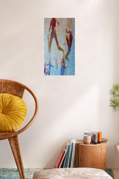 WATERPOLO FEMINAS | Pintura de Jose Belloso | Compra arte en Flecha.es