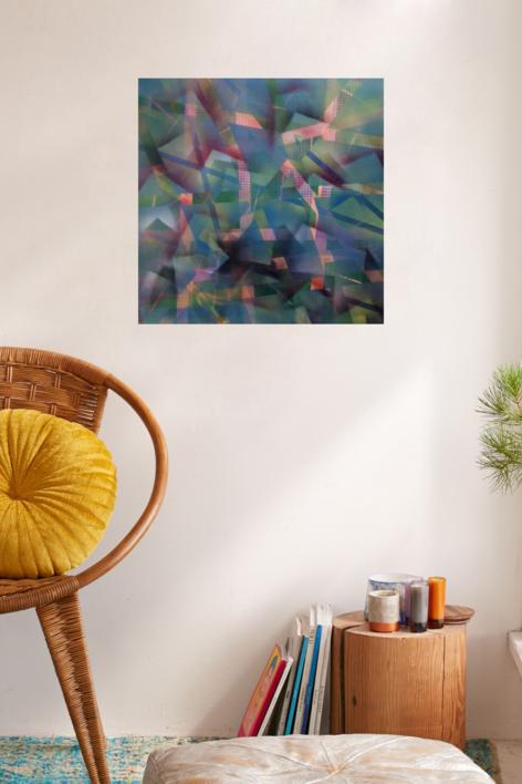 bosque azul | Pintura de Juan Caravaca Art | Compra arte en Flecha.es