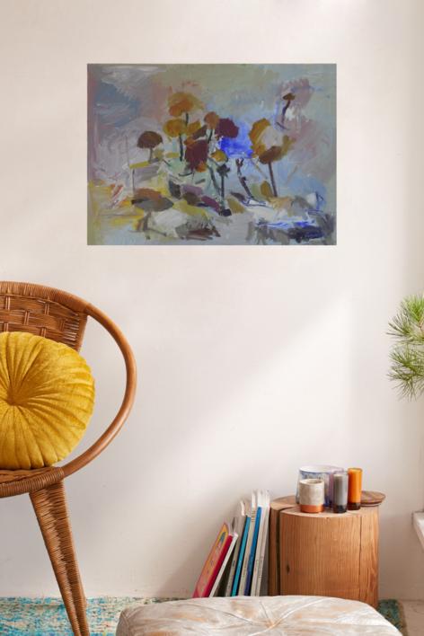 EL BOSQUE DE COLORES 2 | Pintura de JCuenca | Compra arte en Flecha.es