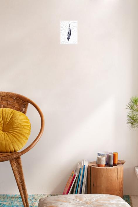 Huella de pluma II | Escultura de pared de Macarena Garví | Compra arte en Flecha.es
