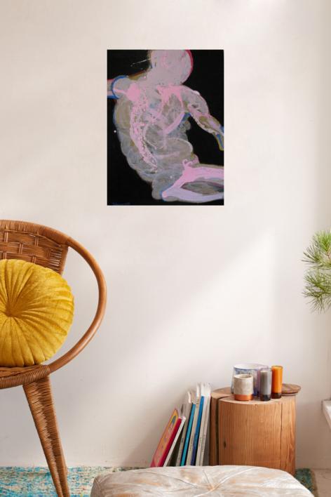 La silueta de Adolfo | Pintura de Nader | Compra arte en Flecha.es