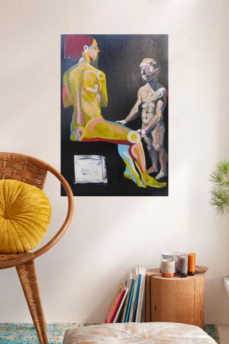 El inadvertido | Pintura de Nader | Compra arte en Flecha.es
