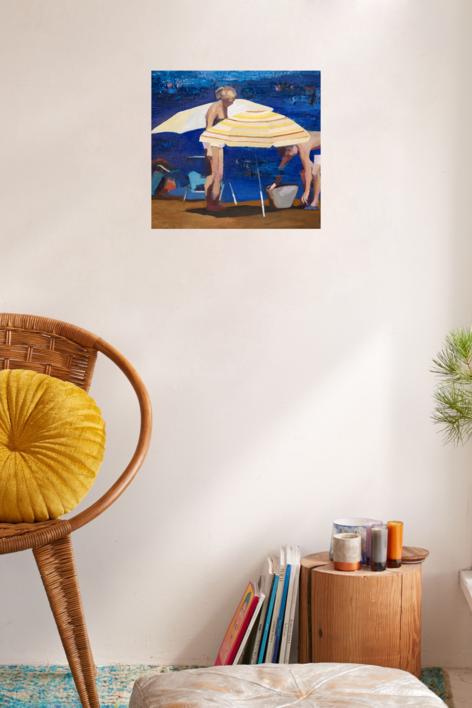 Sombrillas   Pintura de Carmen Montero   Compra arte en Flecha.es
