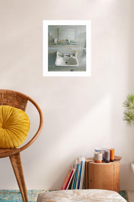 Lavabo y espejo | Obra gráfica de Antonio López | Compra arte en Flecha.es