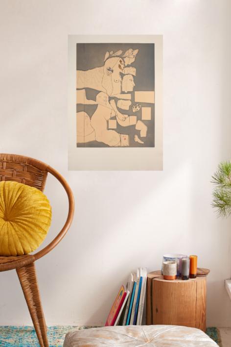 Marienza Recortada | Obra gráfica de Jorge Castillo | Compra arte en Flecha.es