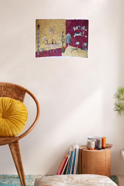 El Taller de Costura | Collage de Mero Pil Pil | Compra arte en Flecha.es