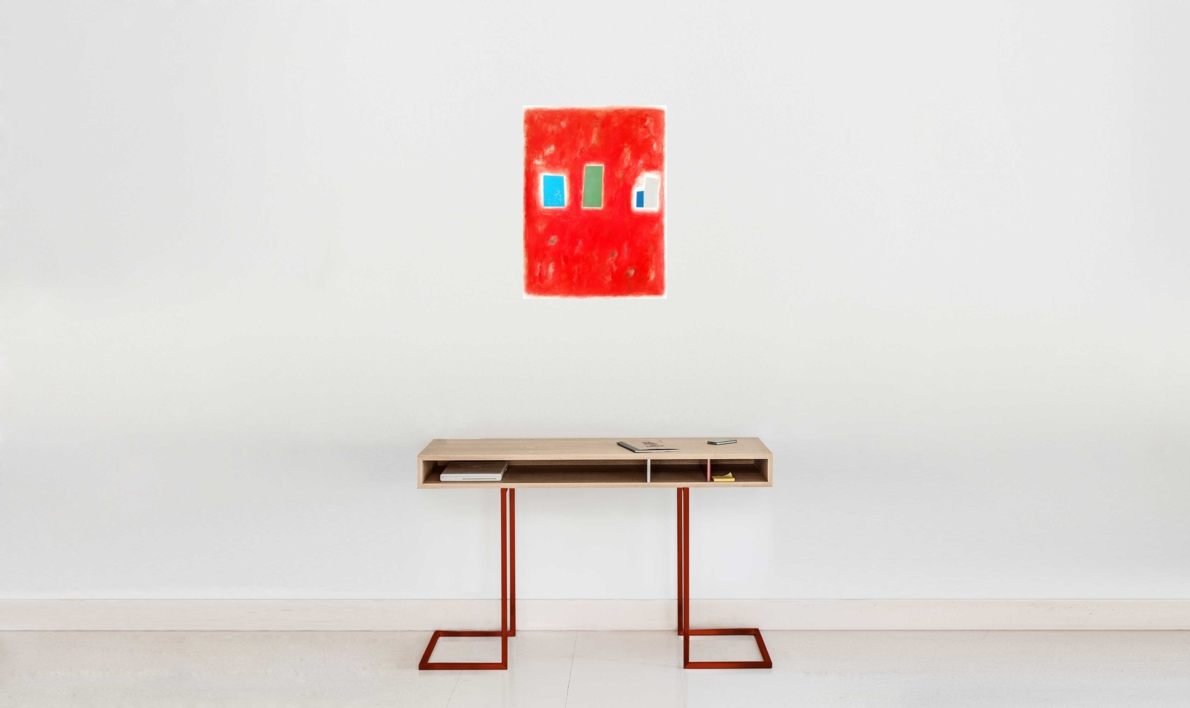 Red city | Pintura de Luis Medina | Compra arte en Flecha.es