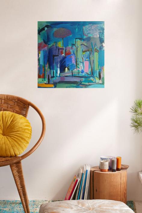 EL ÁRBOL DE LA CIUDAD | Pintura de JCuenca | Compra arte en Flecha.es