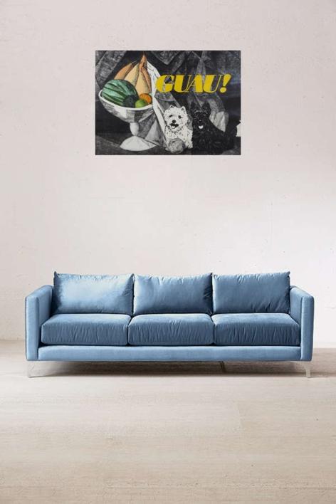 Serie Desayunos: ¡GUAU! | Obra gráfica de Fernando Bellver | Compra arte en Flecha.es