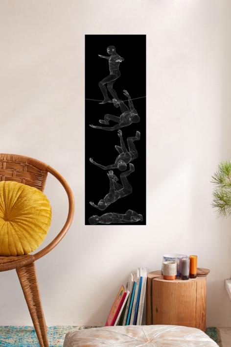 El equilibrio es imposible II | Obra gráfica de David Ortega | Compra arte en Flecha.es