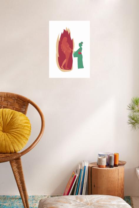Su madre, sin serlo | Dibujo de Sara Novovitch | Compra arte en Flecha.es
