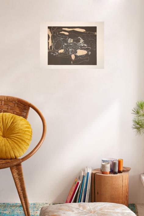 El Nadador | Obra gráfica de Jorge Castillo | Compra arte en Flecha.es