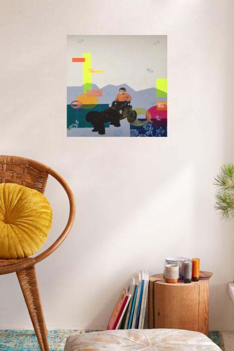 Jose | Collage de Olga Moreno Maza | Compra arte en Flecha.es